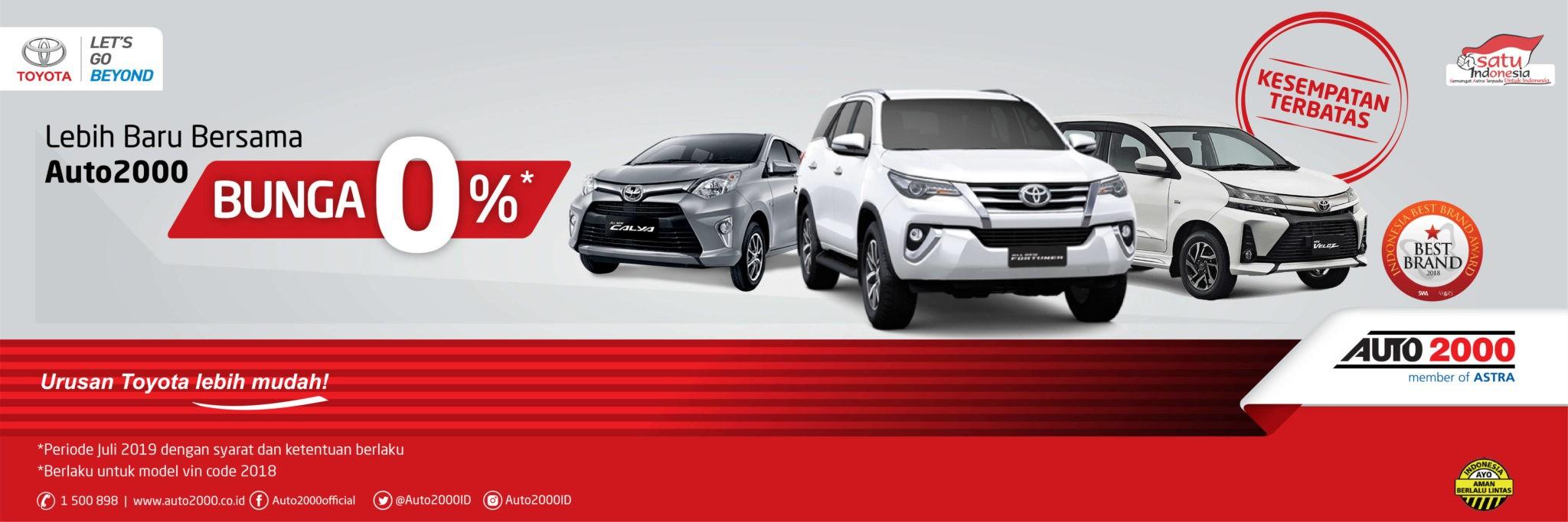 Kredit Mobil Baru Toyota Bunga 0 Persen