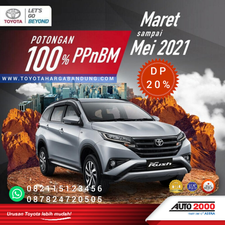 Promo Toyota Rush Bandung-Promo ppnbm toyota